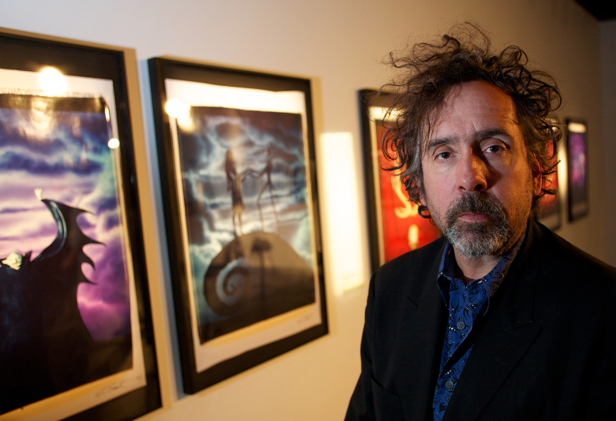 Tim-Burton-and-artworks
