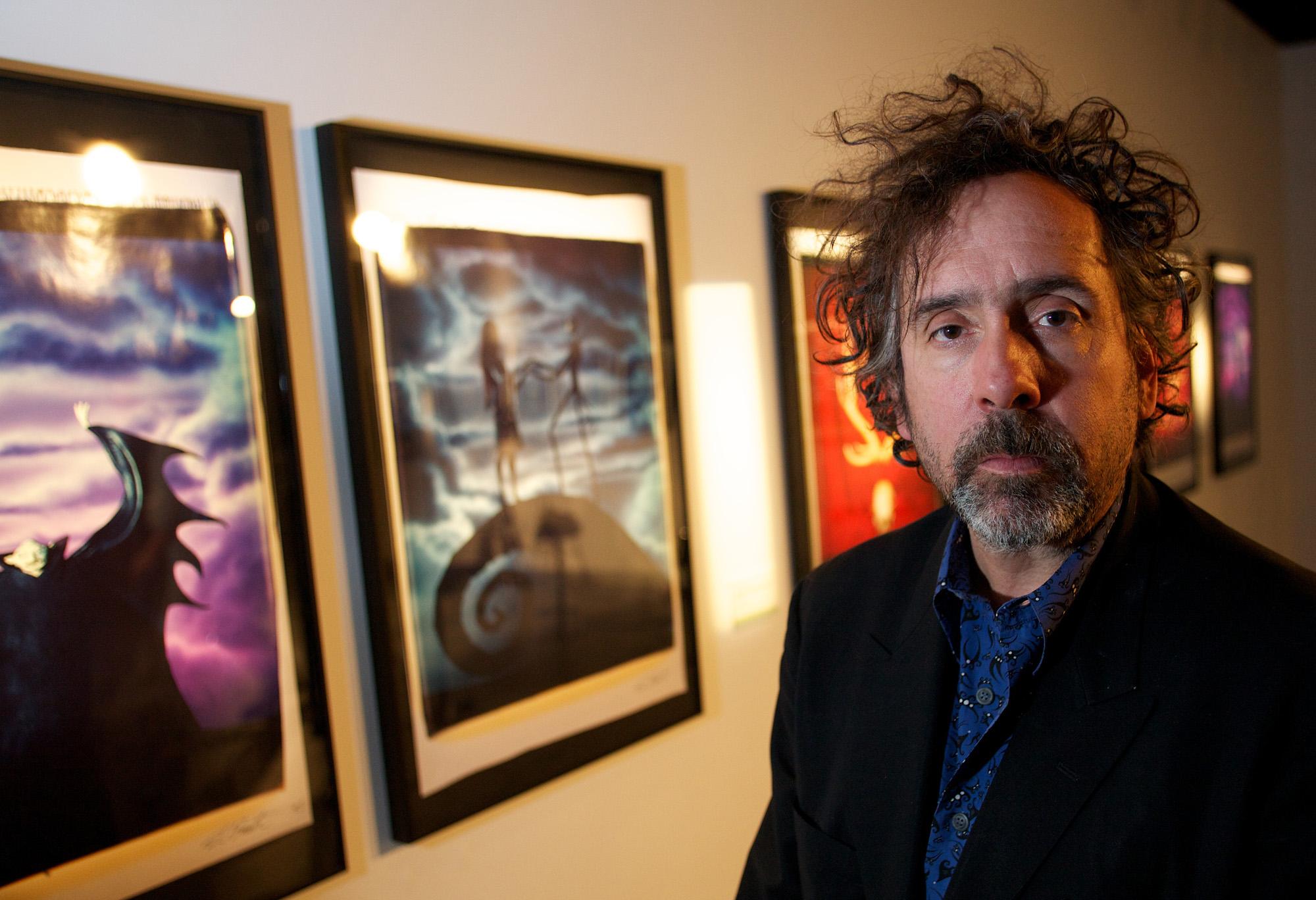 Tim-Burton-and-artworks